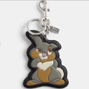 Coach x Disney Thumper Keychain NWT